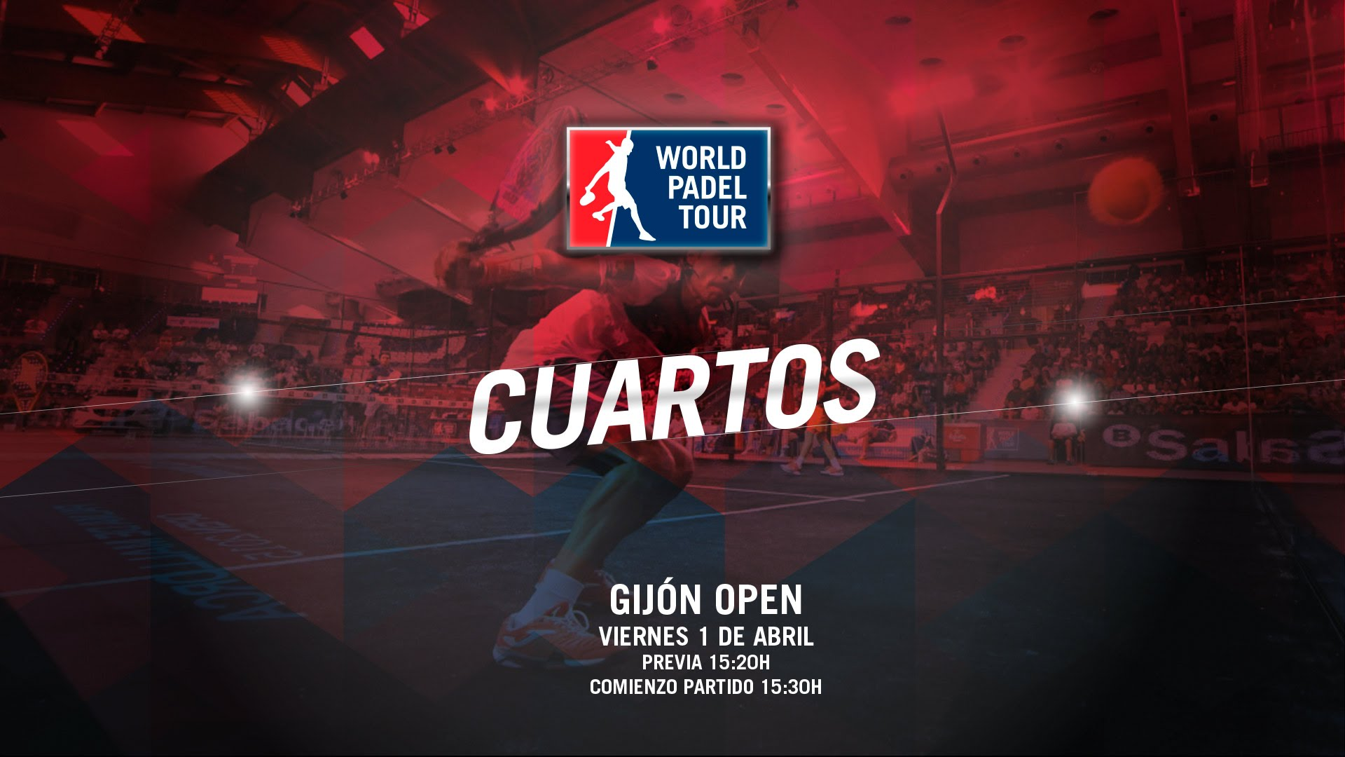 World Padel Tour, Gijón Open 2016, quarti di finale LIVE