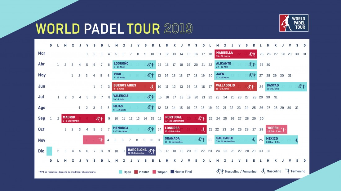 Calendario Barcellona.World Padel Tour 2019 Calendario Completo Della Stagione